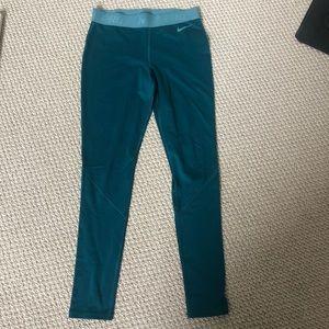 Teal blue / green Nike Pro leggings